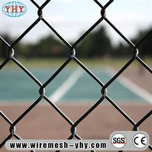 China Black Vinyl Coated 8ft Chain Link Wire Mesh Fence