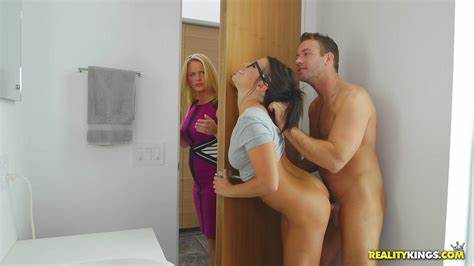Stepmom Pussypounded In Threeway With Student