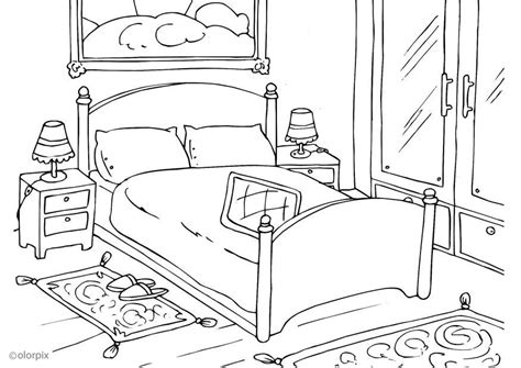 dessin de chambre coloriage chambre à coucher img 25998