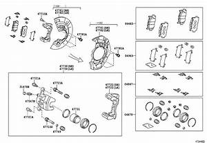 Toyota Camry Disc Brake Caliper Pin  Front   Front Disc