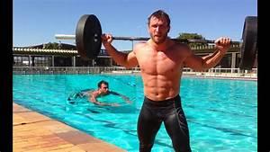 Dmitry Klokov - Swim   Press Snatch Grip Behind The Neck X 3 Rounds