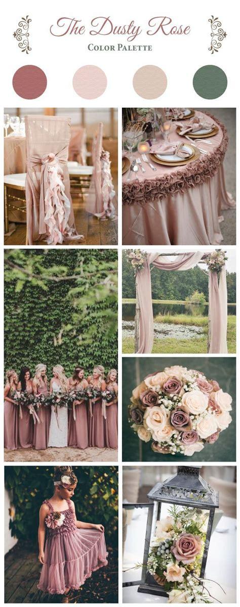 The Dusty Rose Color Palette Wedding theme colors
