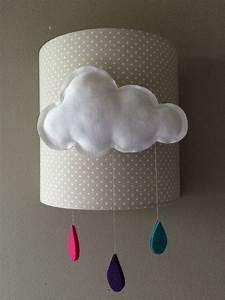 Applique Murale Chambre Bébé : applique murale nuage pour decoration de chambre d 39 enfant ~ Nature-et-papiers.com Idées de Décoration