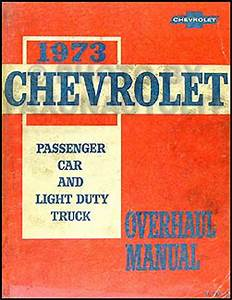 1973 Chevy Car Wiring Diagram Manual Reprint Impala