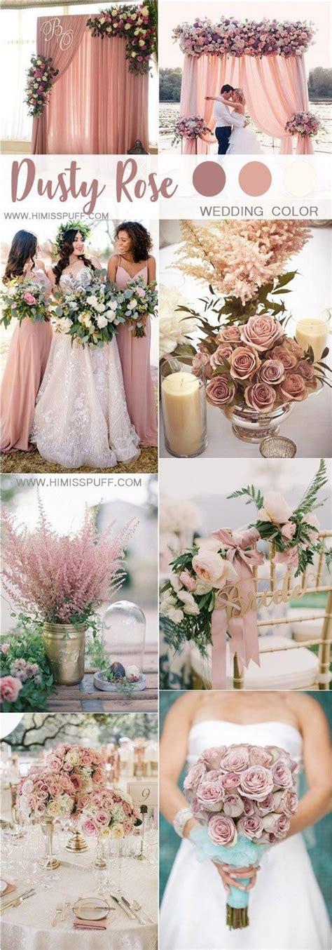 dusty rose wedding color ideas #weddings #weddingcolors #