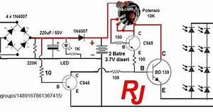 Circuit Diagram Rangkaian Lampu Led Emergency
