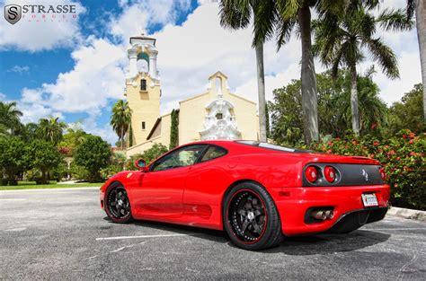 Modified ferrari 360 modena lovely exhaust sound! Ferrari 360 Modena custom wheels Strasse CF 19x8.5, ET , tire size / R19. 19x11.0 ET