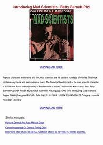 Introducing Mad Scientists Betty Burnett Phd By Alanna