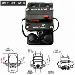 50 Amp Circuit Breaker Trolling With Manual Reset  12v 48v