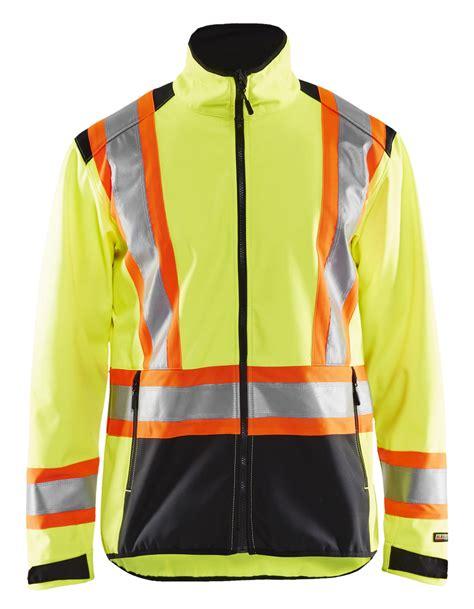 4975: CA Hivis softshell jacket - WorkWear-USA