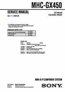 Sony Mhc-gx450 Service Manual