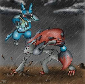 Zoroark VS Lucario by KairouZ on DeviantArt