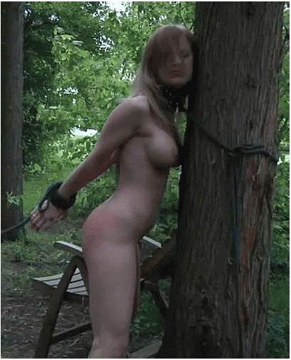 Tied Naked Whipping Woman Whipped