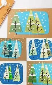 Weihnachtskarten Basteln Grundschule : weihnachtskarten basteln mit tannenb umen kunstuntrricht ~ Orissabook.com Haus und Dekorationen
