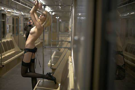 Nudes In The Moscow Metro Younger European Dark Is Loses At Subway
