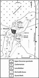 Geological Map Of The Maldon Gold Deposit  Central