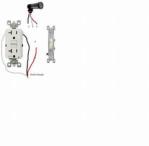 Adding Gfi Receptacle And Switch To Photocell Location