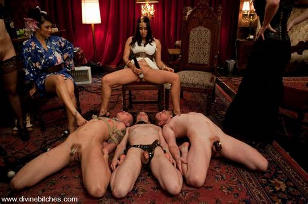 #Mistresses #Dominate #And #Abuse #Male #Slaves #At #Femdom #Orgy