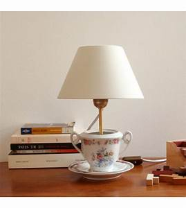 Petite Lampe De Chevet : petite lampe de table teacup lamp lampe de chevet en porcelaine ancienne ~ Teatrodelosmanantiales.com Idées de Décoration