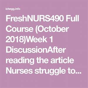 Nurs490 Full Course  October 2018