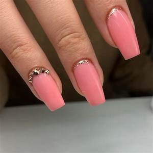 pink structured gel manicure luminary nail systems