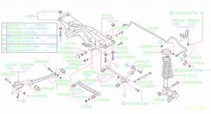 2000 Subaru Forester Suspension Subframe Crossmember  Rear