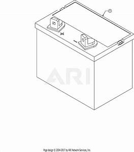 Troy Bilt 13am77ks011 Pony  2016  Parts Diagram For Battery