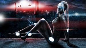 Women, Robots, Futuristic, Fantasy, Art, Digital, Art, Science, Fiction, 3d, Girls, U2013, Abstract, Fantasy, Hd