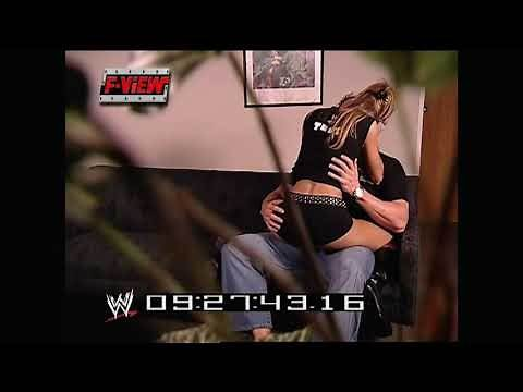 WWE Stacy Keibler & Test Kissing (2.12.2002)