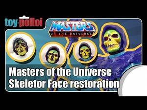Vintage Skeletor Face restoration - Masters of the Universe - Toy Polloi