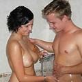 Vintage Retro Nude Shower